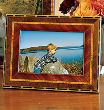 Gifts for the Italian Enthusiast - Rosa Marquetry Frame