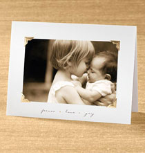 Peace Love Joy Photo Christmas Card set of 18   Card Only Personalization