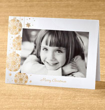 Holiday Cards - Elegant Ornaments Photo Christmas Card set of 18