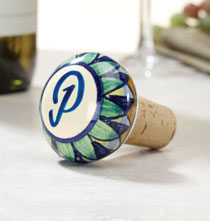 Gifts for the Wine Lover - Ceramic Winestopper Personalized