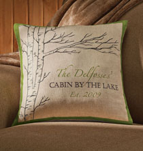 Gifts for the Traveler - Personalized Retreat Pillow
