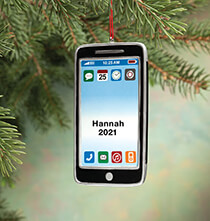 Holiday Ornaments - Personalized Cell Phone Ornament