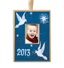 Holiday Ornaments - Personalized Hand Painted Peace Ornament