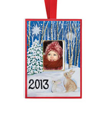 Holiday Ornaments - Personalized Handpainted Woodland  Ornament