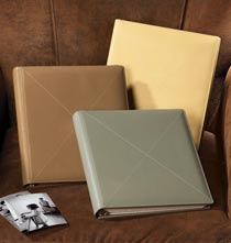 Platinum Leather Albums - Cross-Stitch Leather Photo Album – Three-Ring Album