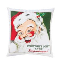 Retro Santa Personalized Pillow