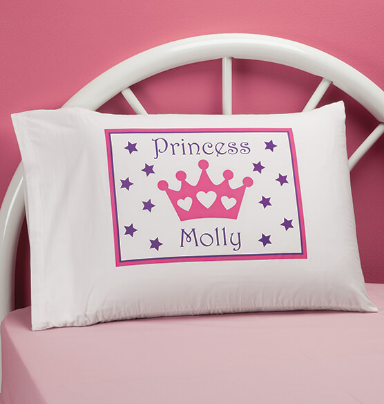 Personalized Princess Crown Pillowcase
