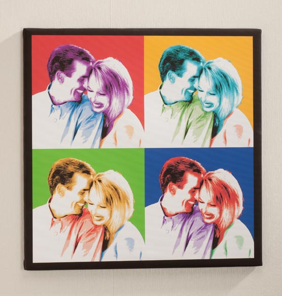 "Personalized Pop Art Canvas - 24"" x 24"""