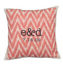 Gifts for Her - Ikat Personalized Pillow