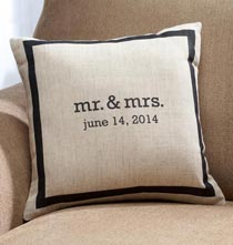 Wedding Essentials - Mr. & Mrs. Personalized Pillow