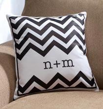 Monogrammed Chevron Pillow