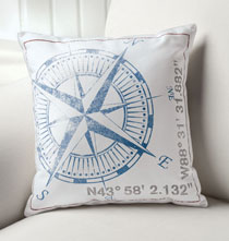 Personalized Pillows - True North Pillow