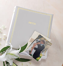 Platinum Leather Albums - Ultimate Wedding Leather 3 Ring Album  Personalized