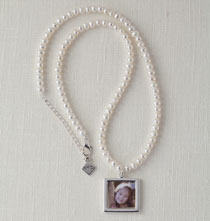 Gifts for Her - Cultured Pearl Photo Necklace