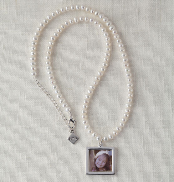 Cultured Pearl Photo Necklace