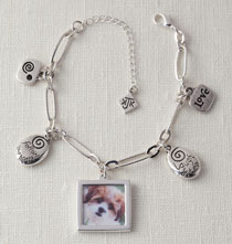 Gifts for Her - Photo Charm Bracelet