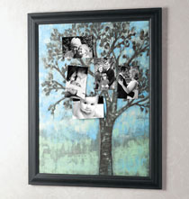 Gifts for Grandparents - Family Tree Photo Board