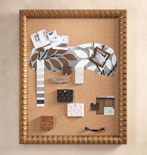 Gifts Under $100 - Gold Band Cork Board
