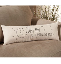 Gifts for Her - I Love you to the Moon Pillow