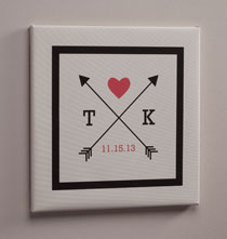Personalized Wall Décor - Love Arrows Canvas