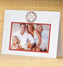 Photo Insert Cards - Christmas Wreath Photo Christmas Card Set of 18