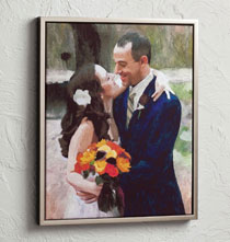 Framed Impressionist Photo Canvas - 16 X 20