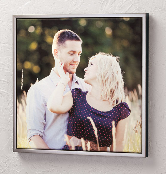 Framed 18x18 Custom Photo Canvas - View 1