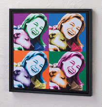 Framed Personalized Pop Art Canvas - 18