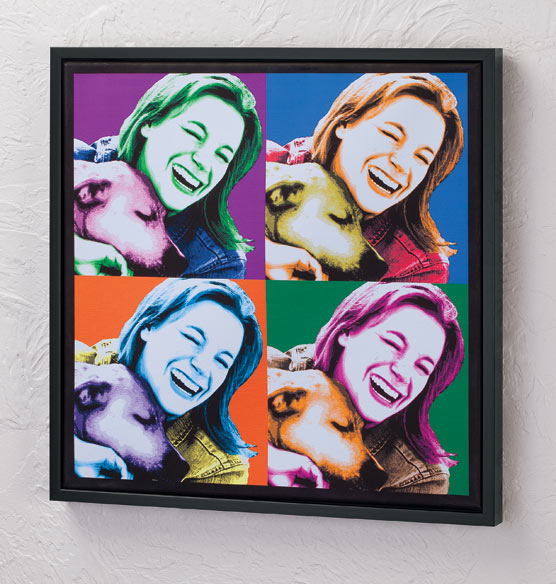 "Framed Personalized Pop Art Canvas - 18"" x 18"""