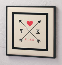 Personalized Wall Décor - Framed Love Arrows Canvas