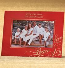Photo Insert Cards - Elegant Greetings Easel Frame Christmas Card Set of 18