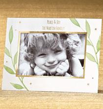 Photo Insert Cards - Laurel Leaves Easel Frame Christmas Card Set of 18
