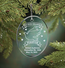 Holiday Décor - Personalized Memorial Glass Ornament