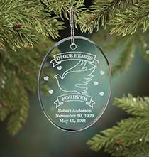 Personalized Memorial Glass Ornament