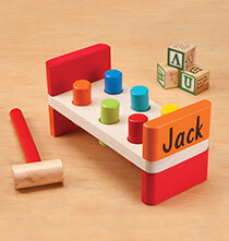 Toys - Personalized Wooden Peg Bench