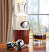 Gifts for the Foodie - Clear Glass Decanter
