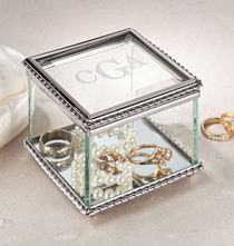 Jewelry & Jewelry Boxes - Personalized Glass Treasure Box