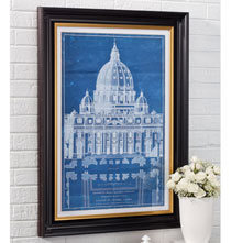 Gifts for the Italian Enthusiast - Vatican Basillica Blueprint