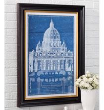 Vatican Basillica Blueprint