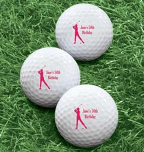 Gifts for the Sports Lover - Personalized Women's Golf Balls - Set of 6