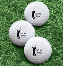 Accessories for Him - Personalized Men's Golf Balls - Set of 6