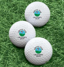 Accessories for Him - Personalized Above Par Golf Balls - Set of 6