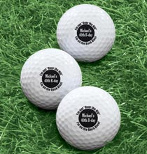 Personalized Golf Balls - Personalized Over The Hill Golf Balls - Set of 6