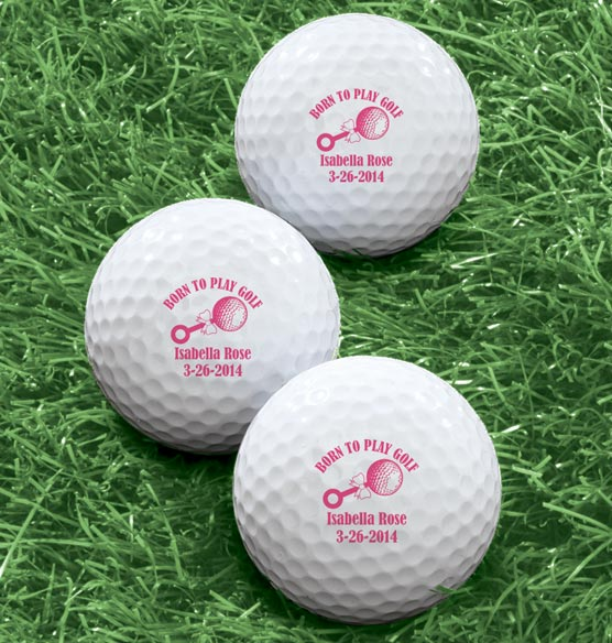 Personalized Born To Play Golf Balls - Set of 6