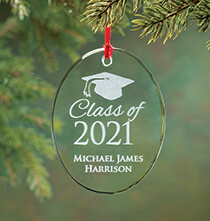 Holiday Décor - Personalized Glass Graduation Ornament