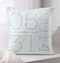 Personalized Pillows - Birth Date Pillow