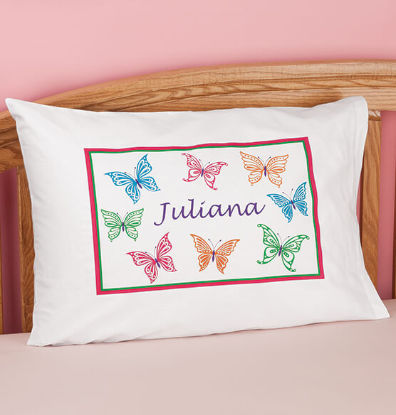 Personalized Butterflies Pillowcase