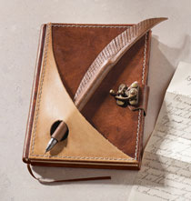 Gifts for the Traveler - Quill Journal with Pen