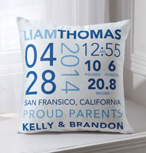 Personalized Pillows - Birth Announcement Pillow