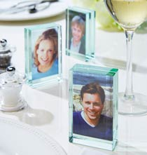Unique Frames - Glass Block Favor Frames, Set of 3